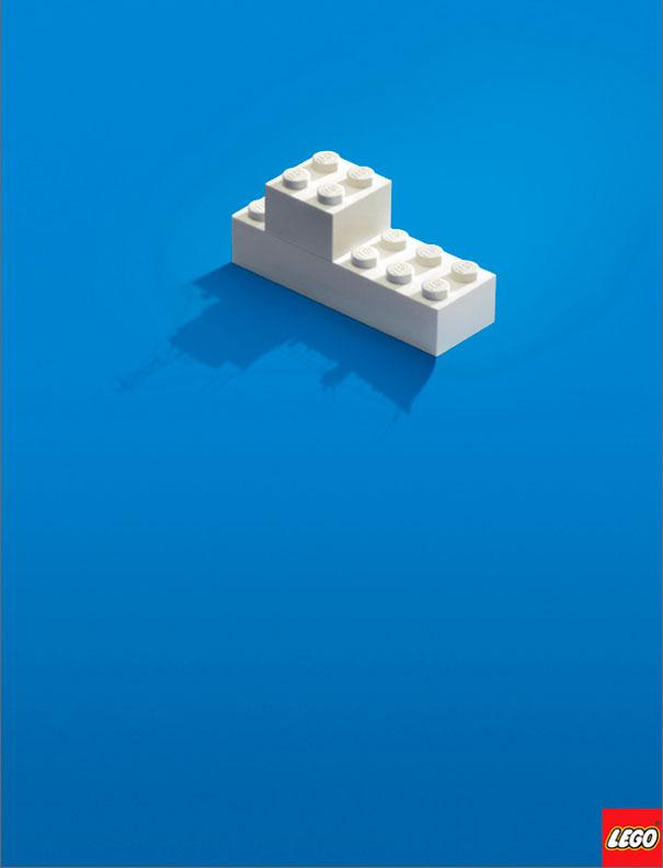 Lego blocks minimalist ad example