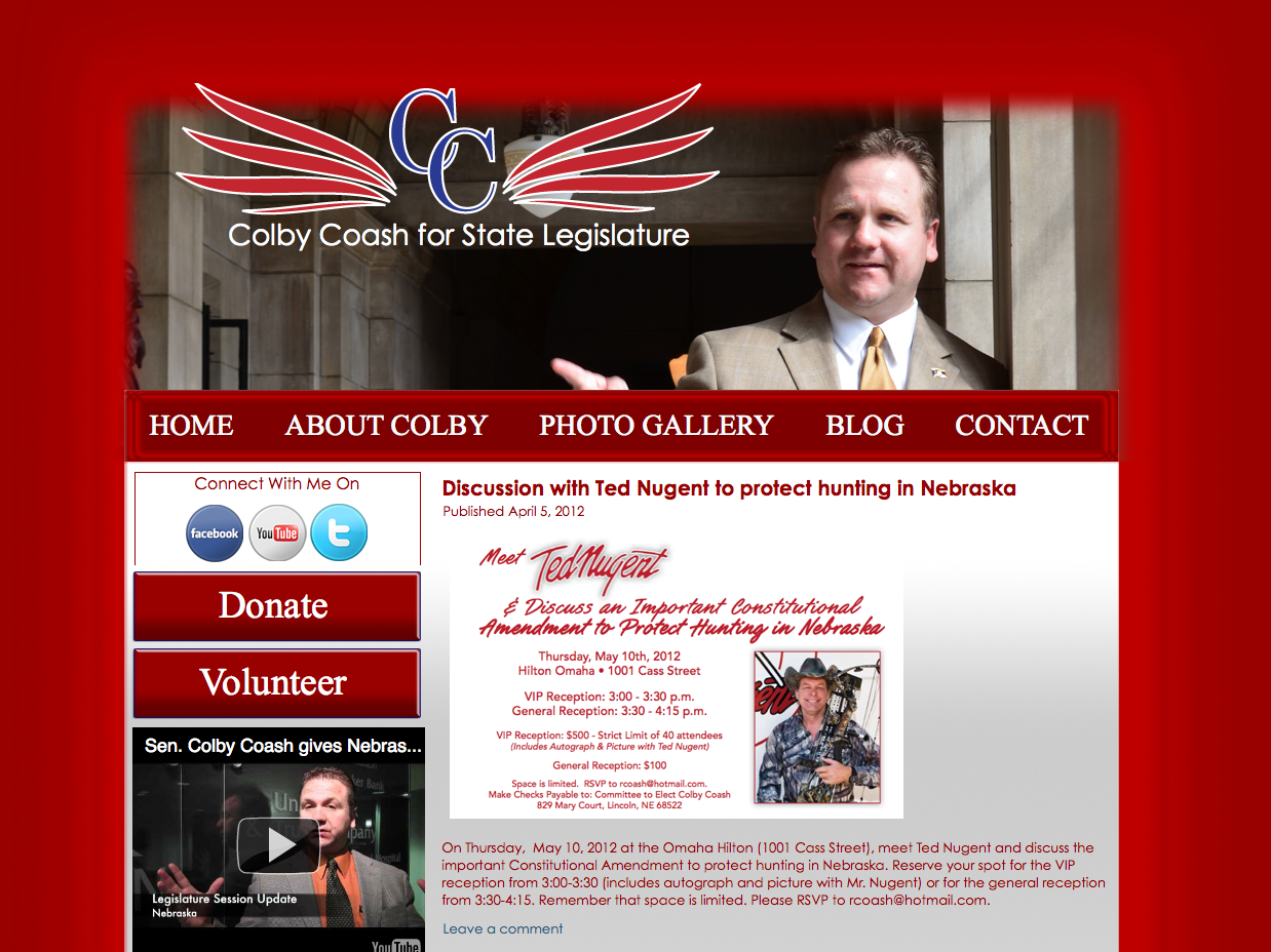 Colby Coash Website