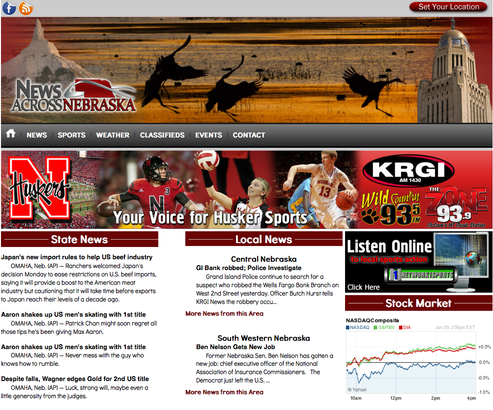 News Across Nebraska website