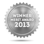 illustration: silver badge, 2013 Merit Award