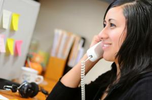 Intern on phone call
