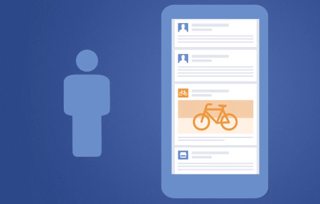 Facebook on mobile device illustrated concept