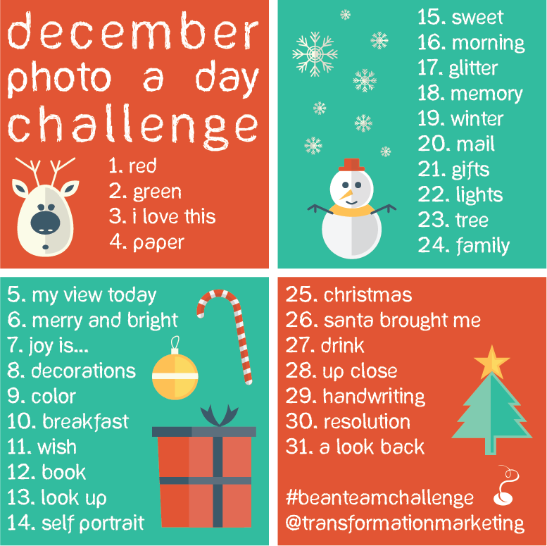 December photo a day challenge rules