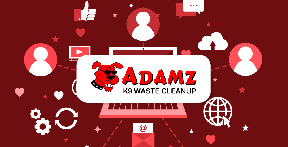Adamz K9 Waste Cleanup – Social Media Marketing
