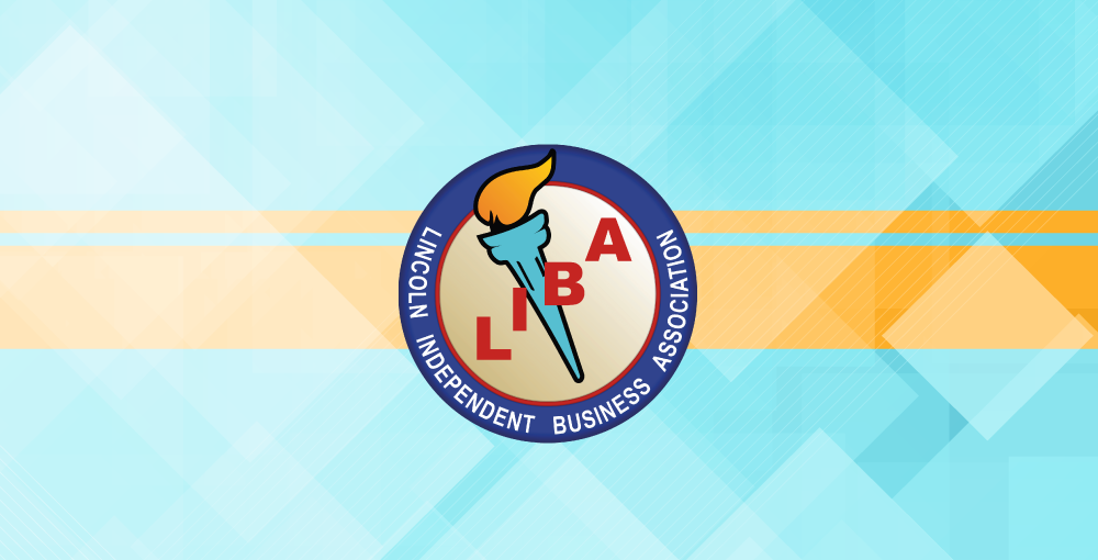 Illustration with Lincoln Independent Business Association logo