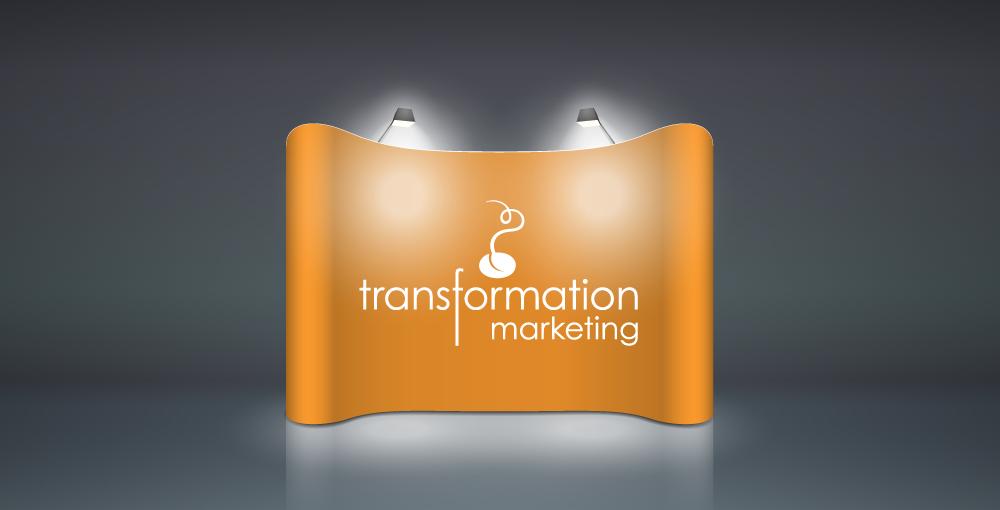 Transformation Marketing logo on showtime background