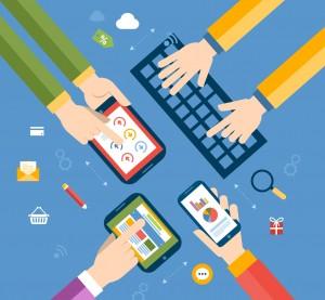 illustration: social media, brand
