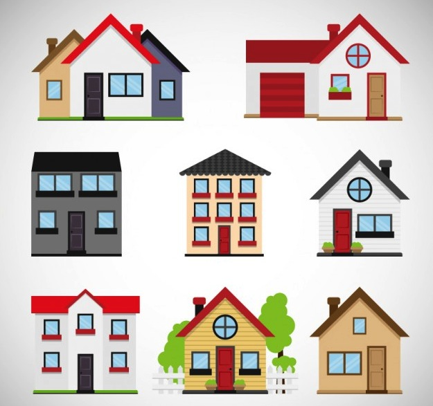 vectors of agencies and homes