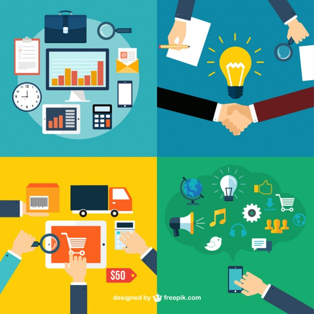 marketing concept vector demonstrating business roles