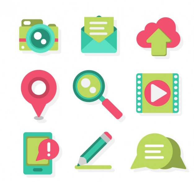 vector of marketing content icons