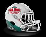 Papa John's fantasy football helmet