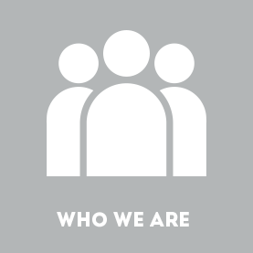 Who We Are graphic in gray