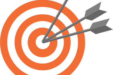 target with three arrows in the bullseye
