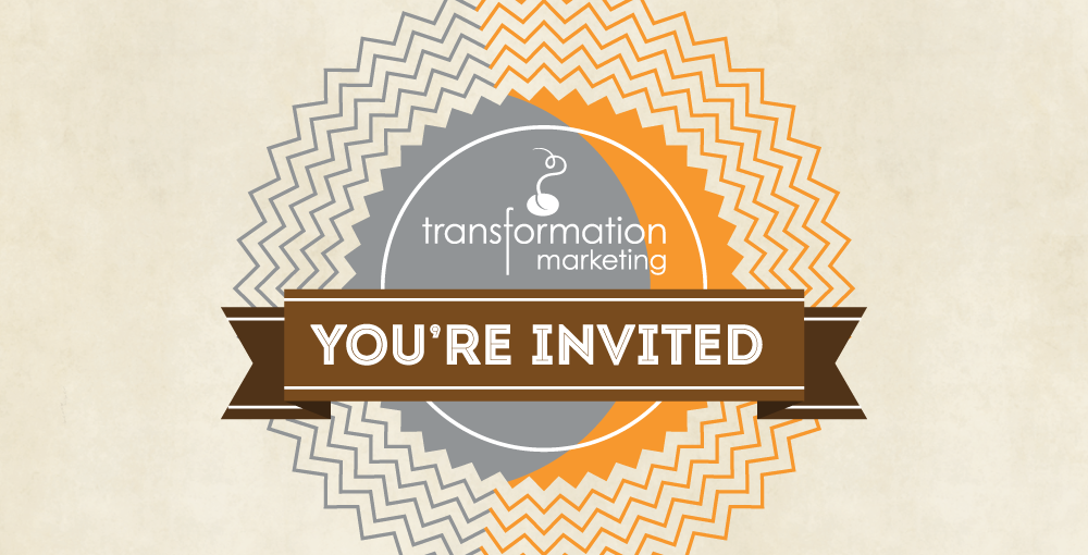 Artistic Invitation with Transformation Marketing branding