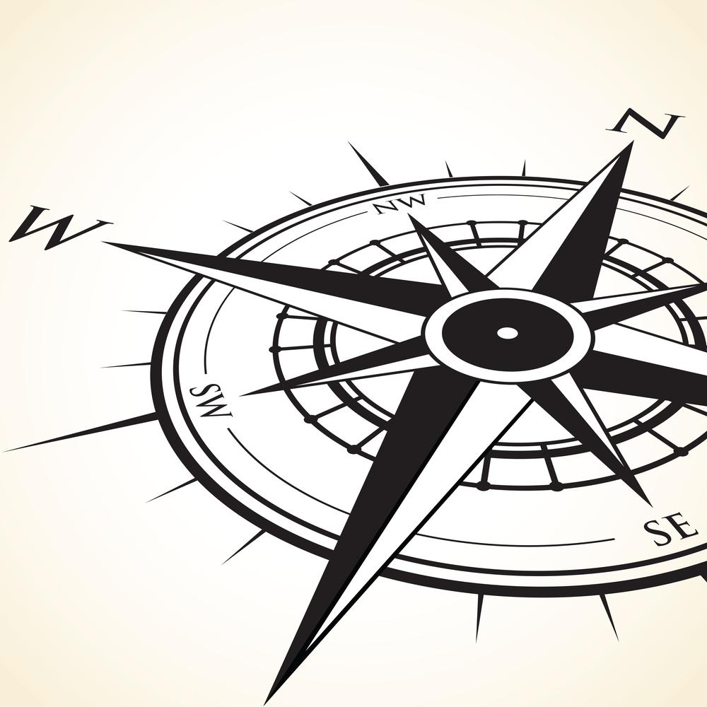 Ornate Compas Rose illustration