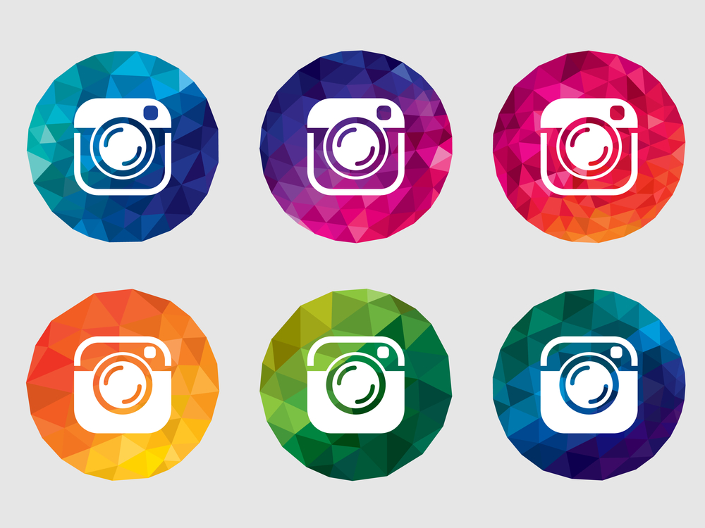 instagram logo in 6 similar treatments