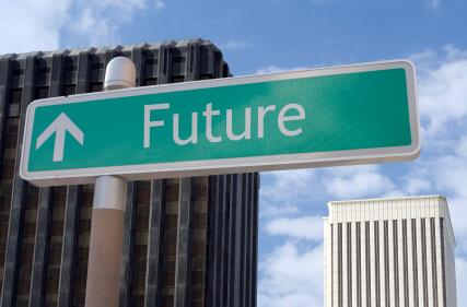 Road Sign Future Success Ahead