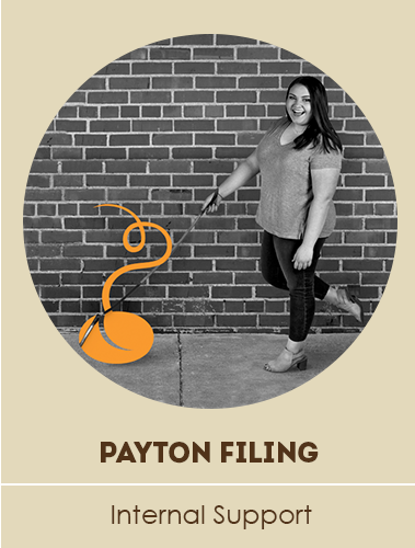 image of payton taking the bean logo for a walk