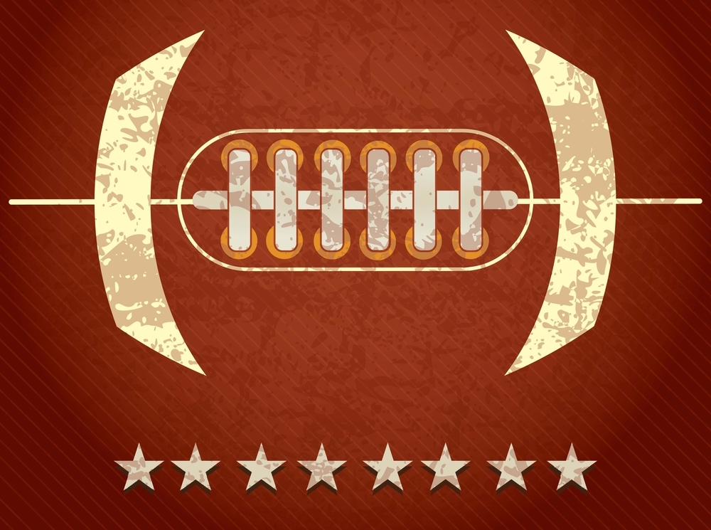 American Football abstract concept with stars, on grunge background