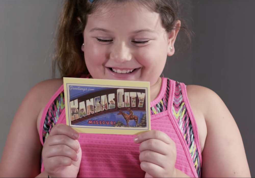 Little girl gets postcard from her father who is an FCC truck driver