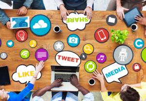 Team collaboration for social media