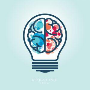 Brain within a light bulb