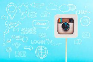Instragram logo and social media graphics