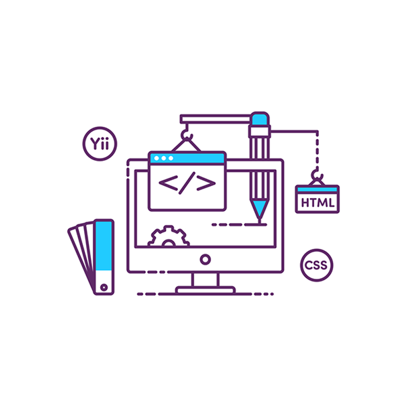 Web design tools graphics. Illustration.