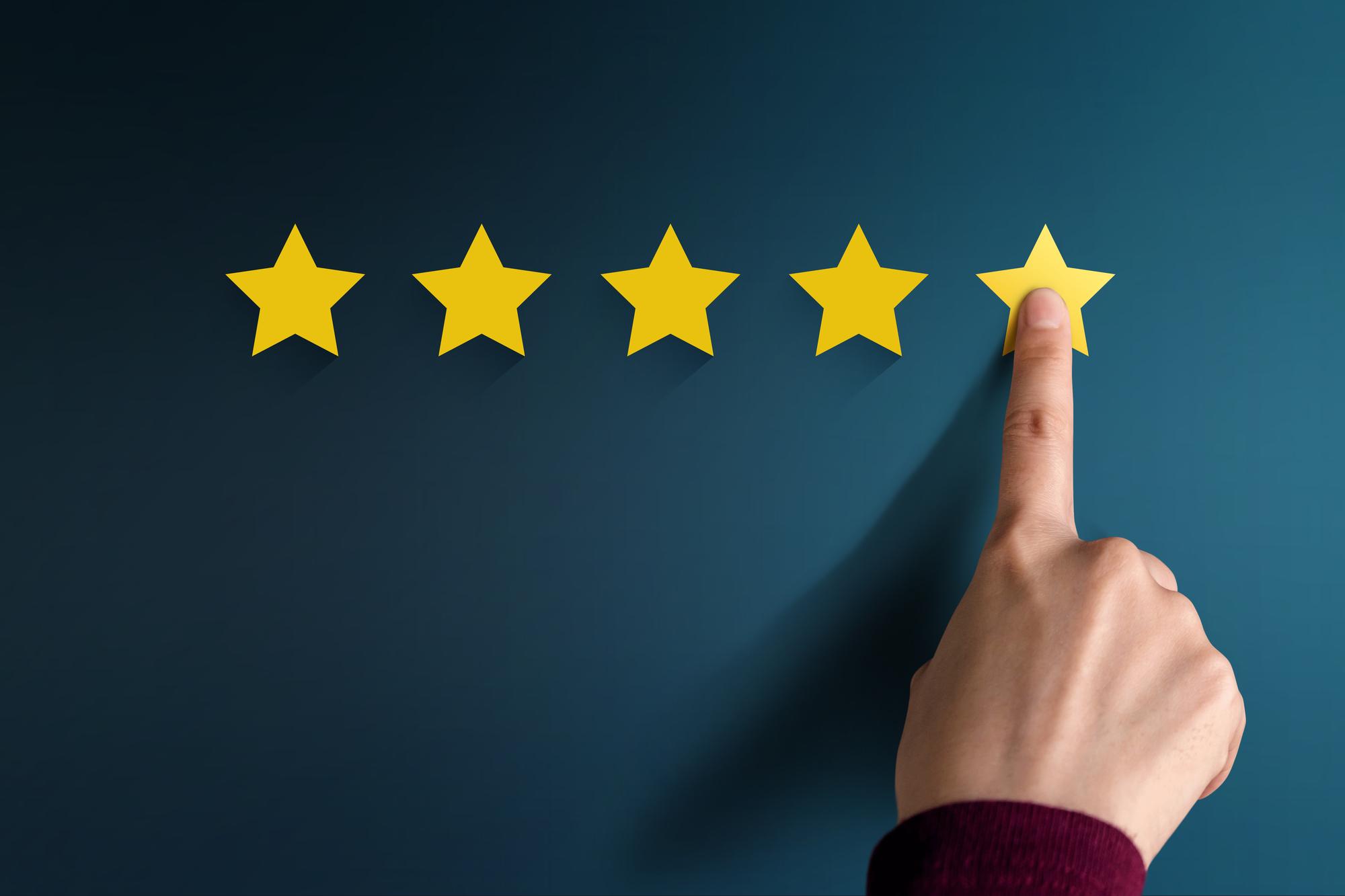 Online Reviews - 5 Stars