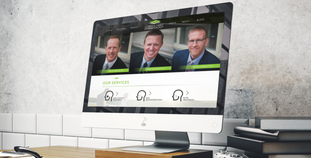 Complete Family Dermatology: Website Redesign