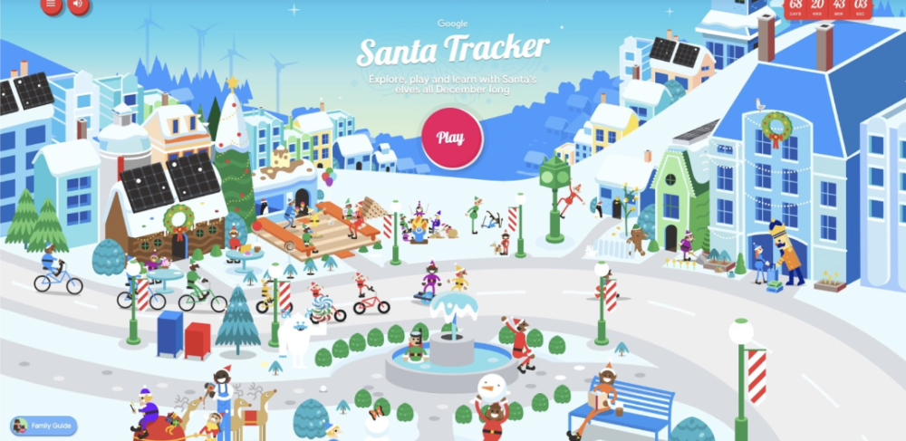 elements of marketing campaigns: google santa tracker